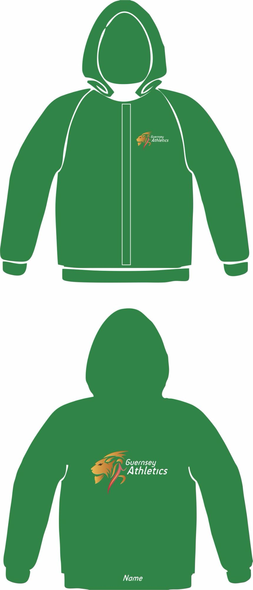 Men's Club Zoodie Green (Full Zip)