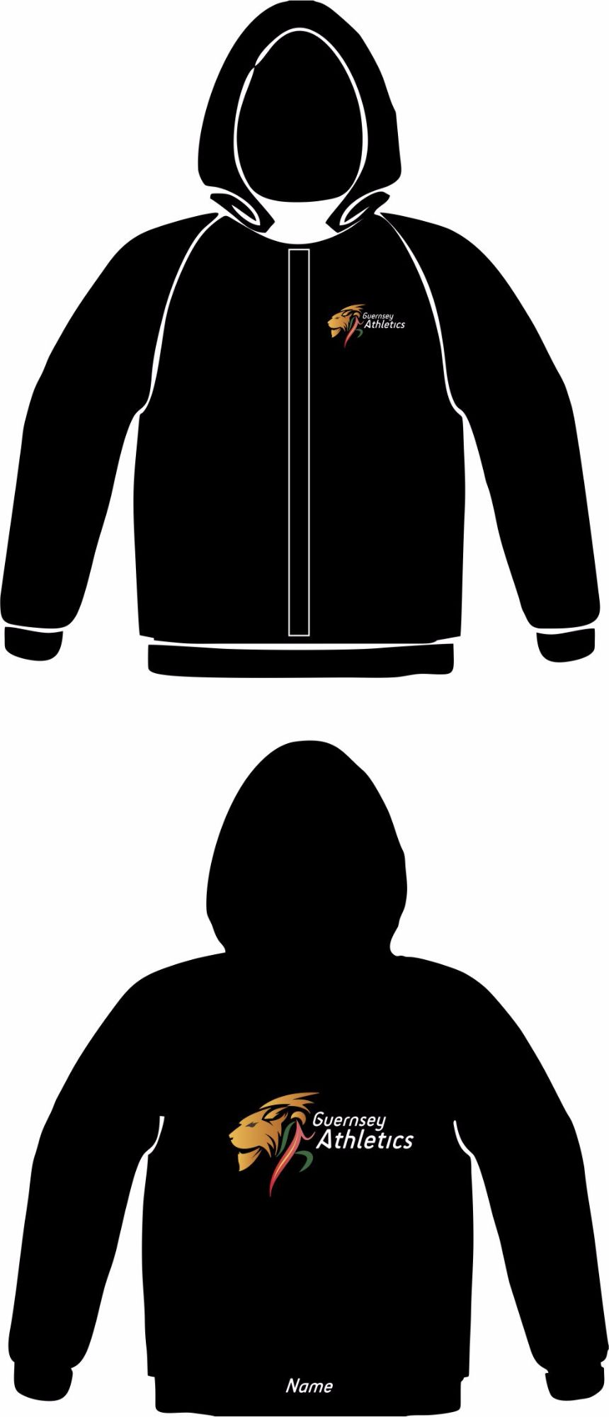 Men's Club Zoodie Black (Full Zip)