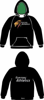 Men's Club Hooded Sweat Black (No Zip)
