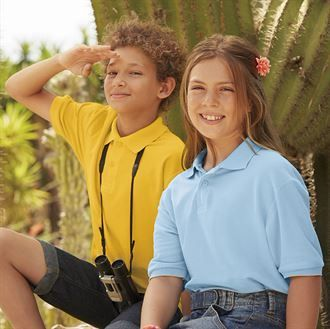 b. Kid's Cotton Polo Shirt