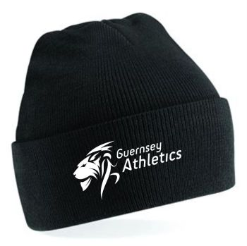 e. Guernsey Athletics Beanie Black