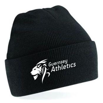 e. Guernsey Athletics Beanie Black