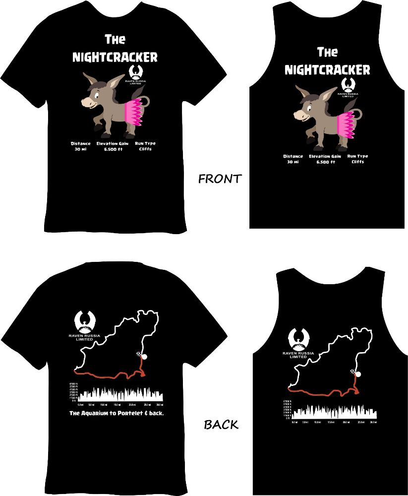 j) The Nightcracker 2018 New GLOW PRINT TEE