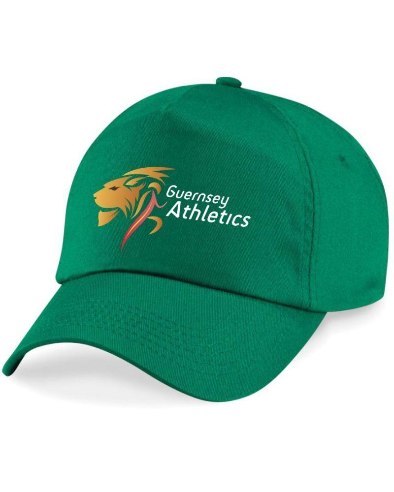 c. Guernsey Athletics Cap Junior Green