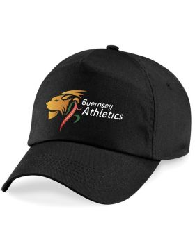 c. Guernsey Athletics Cap Adult Black