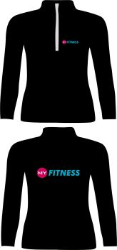 My Fitness 3 Qtr Zip Running Top