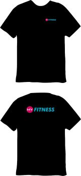 My Fitness Cotton T-Shirt Black