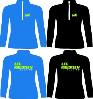 Lee Merrien Running 3 Qtr Zip Polyester Sweatshirt Adults