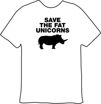Save The Fat Unicorn Tee