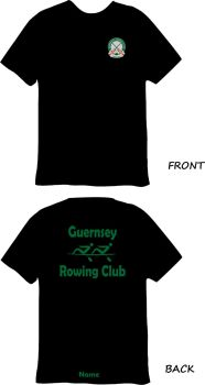 Guernsey Rowing Club Sports Technical T-Shirt Black