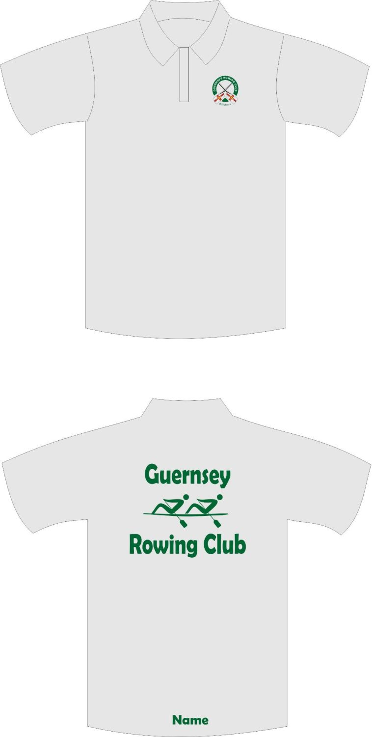 Guernsey Rowing Club Sports Technical Polo Shirt Grey
