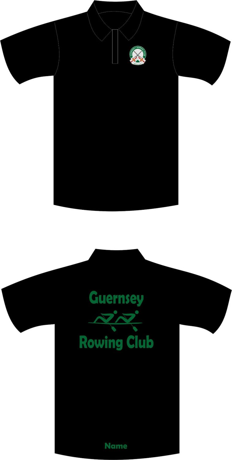 Guernsey Rowing Club Sports Technical Polo Shirt Black