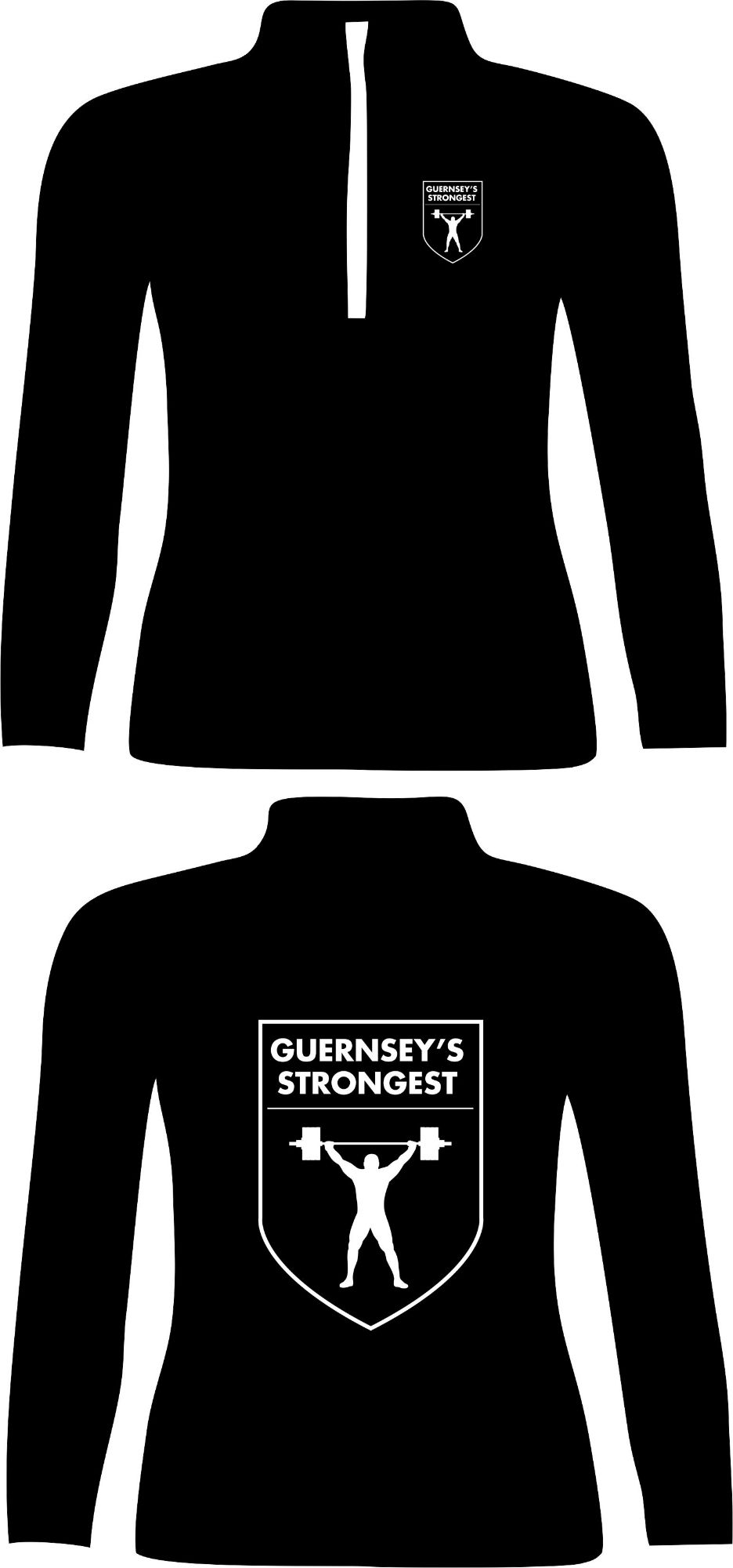Guernsey's Strongest Sports 3 Qtr Zip Sweat