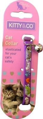 Rubber Cartoon  Collar In Purple