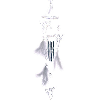 Angel Wind Chime with Feathers