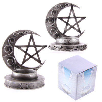 Magic Moon and Pentagram T-lite Holder