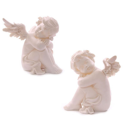 Cherub Sitting Head on Knees