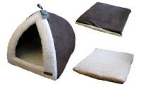 Pyramid Cat Bed Choc/Cream