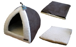 Pyramid Cat Bed Choc/Cream