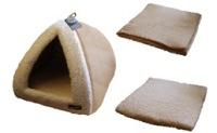 Pyramid Cat Bed Sand/Cream