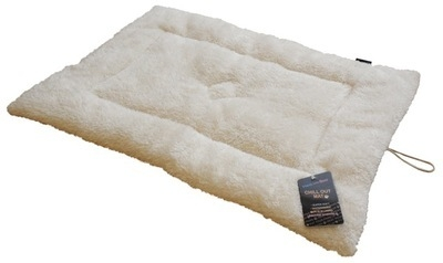 Crate Mat - Sheepskin effect In Cream 24 x 18 x 1