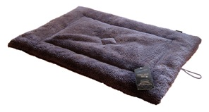 Crate Mat - Soft Fleece In Choc 30 x 21 x 1