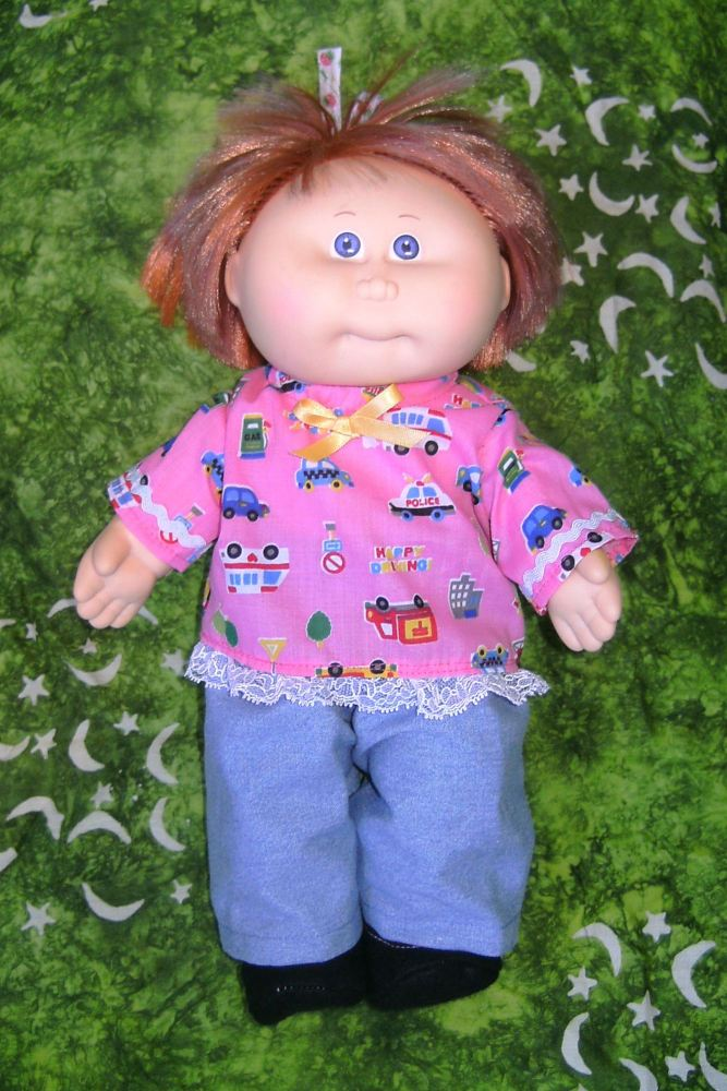 Dolls Jeans and T shirt to fit the 14 inch Cabbage patch doll