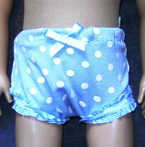 Dolls panties to fit American Girl doll and most 18 inch high girl dolls
