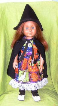 Dolls witch halloween outfit to fit American Girl and most 18 inch girl dolls