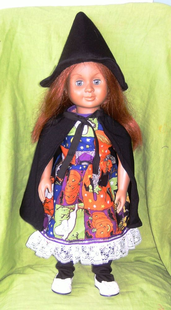Dolls witch halloween outfit to fit American Girl and most 18 inch girl dol