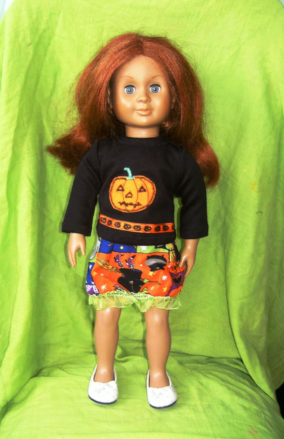 Dolls skirt and top to fit American girl and most 18 inch high girl dolls