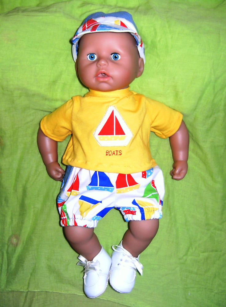 <!--020-->Baby George, most 18 inch baby boy doll