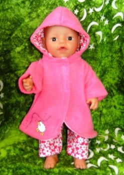 Doll's clothes for a 12 inch high baby doll