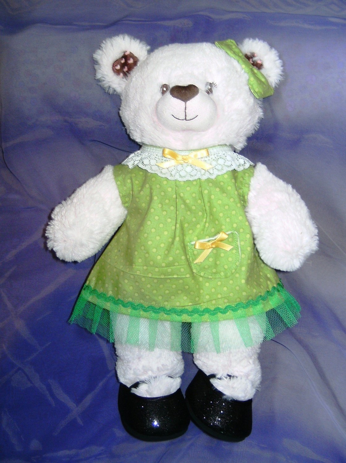 Teddy bear's and bulid a bear dress and hair bow
