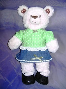 Teddie's skirt and top to fit Build a bear and 18 inch high teddy bears
