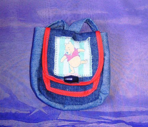 Doll's backpack in denim