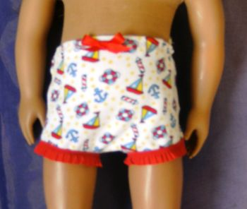 Doll's panties in nautical print