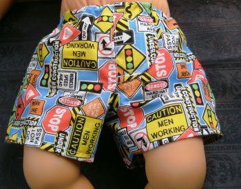 Dolls Jockey shorts in road signs print