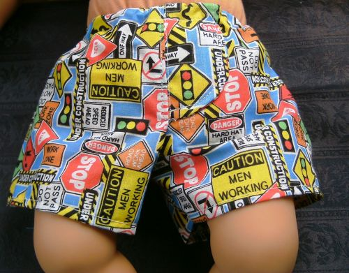Dolls Jockey shorts in road signs print