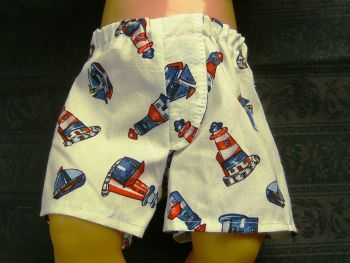 Doll's jockey shorts in seaside print