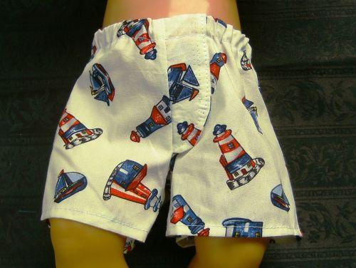 Doll's jockey shorts in seaside print
