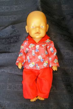Doll's pyjamas for Baby Born Boy doll