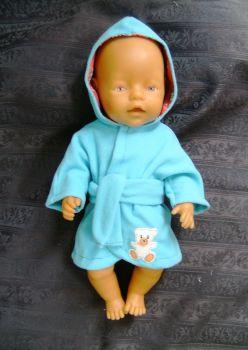 Doll's bathrobe for Baby Born boy