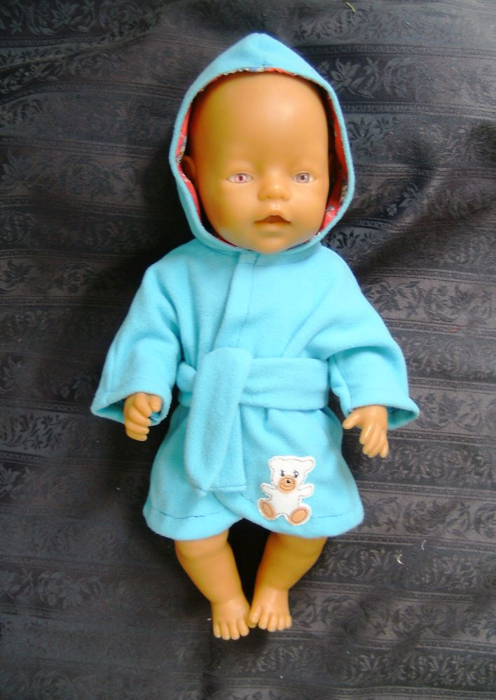 Doll's bathrobe for Baby Born boy