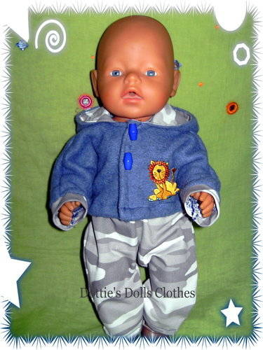 Baby born boy denim hood down
