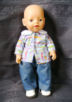 Boy doll's shirt and jeans