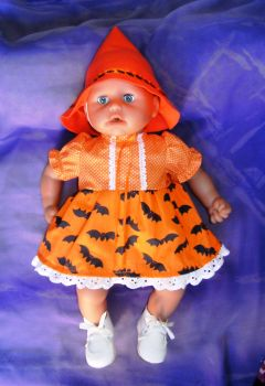 Halloween print dress to fit Annabell