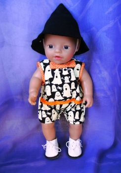 Halloween outfit to fit 12 inch baby doll