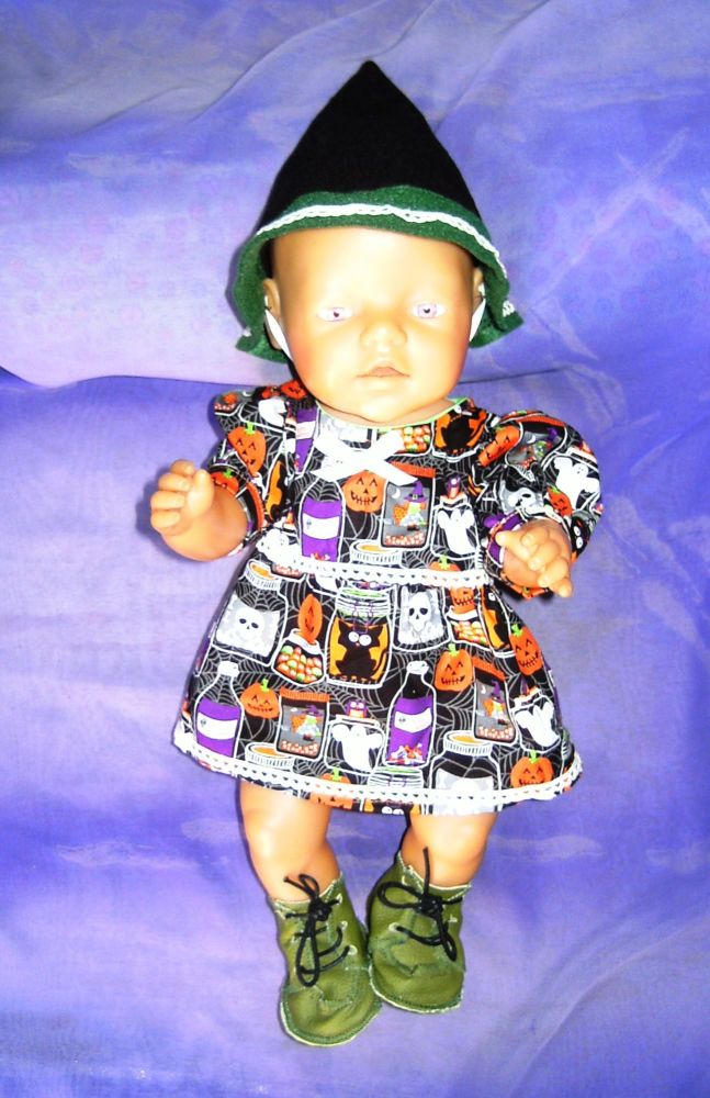 Doll's Halloween dress to fit Baby Born doll