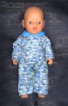 Doll's pajamas to fit 12 inch high baby boy doll